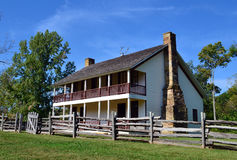 Pea Ridge National Military Park Elkhorn Tavern. A reproduction of the Elkhorn Tavern stands on the grounds of Pea Ridge National Military Park in northwest Stock Images