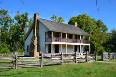 Pea Ridge National Military Park Elkhorn Tavern. A reproduction of the Elkhorn Tavern stands on the grounds of Pea Ridge National Military Park in northwest Stock Photography