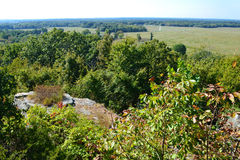Pea Ridge National Military Park. A lookout on Elkhorn Mountain allows one to survey the battlefield at Pea Ridge, Arkansas. Union and Confederate troops met Stock Photography