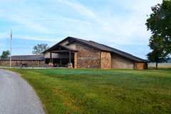 Pea Ridge National Military Park Visitor's Center. The visitor's center at Pea Ridge National Military Park in northwest Arkansas welcomes guests to tour the Stock Photos