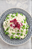 Pea Risotto. Italian Pea Risotto with Radicchio Salad Royalty Free Stock Photography