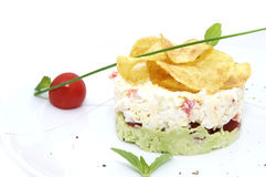Pea salad cheese and tomato Royalty Free Stock Image