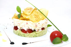 Pea salad cheese and tomato Royalty Free Stock Photography