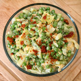 Pea Salad with Raspberry Vinaigrette and Bacon Royalty Free Stock Photography