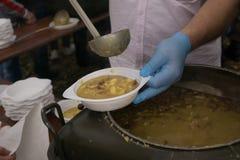 Pea Soup Fotografie Stock