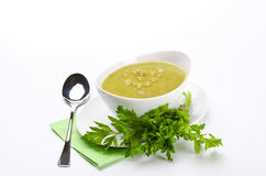 Pea soup. Or split  is soup made, typically, from dried peas Stock Image