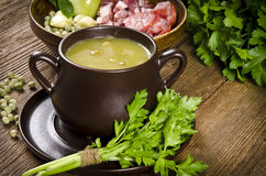 Pea soup Stock Photos