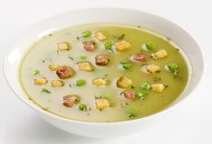 Pea Soup with Bacon Royalty Free Stock Images