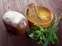 Pea soup with beef ribs Royalty Free Stock Images