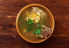 Pea soup with beef ribs Royalty Free Stock Image