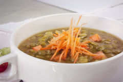 Pea Soup with Carrots Stock Photo