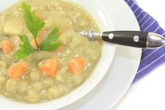 Pea soup with carrots Stock Image