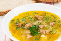 Pea soup with herbs Royalty Free Stock Photography