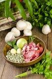 Pea soup  ingredients Stock Photo