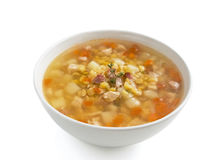 Pea soup isolated stock image