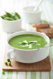 Pea soup with mint Stock Image