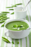 Pea soup with mint Stock Images