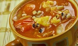 Pea Soup Negro-observado foto de archivo