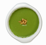 Pea soup with pine nuts Royalty Free Stock Image