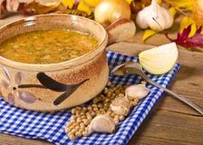 Pea soup (Polish Grochowka) Royalty Free Stock Image