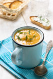 Pea soup puree Royalty Free Stock Photo