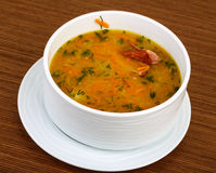 Pea soup with ribs Stock Photography