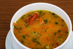 Pea soup with ribs Stock Image