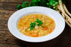 Pea Soup, vegetariano y vegano Pea Soup Fotografía de archivo libre de regalías