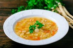 Pea Soup, vegetariano y vegano Pea Soup Fotos de archivo