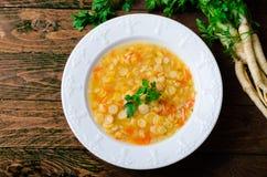 Pea Soup, vegetariano y vegano Pea Soup Imágenes de archivo libres de regalías