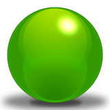 Pea Sphere. A Pea Colored Sphere, contoured to make it look as if it were reflecting light, and Placed upon a shadow to show where it sits on the ground royalty free illustration