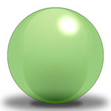 Pea Sphere - Light. A Light Pea Colored Sphere, contoured to make it look as if it were reflecting light, and Placed upon a shadow to show where it sits on the vector illustration