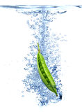 Pea splash Stock Images
