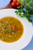Pea-vegetable soup Royalty Free Stock Photography