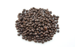 Peaberry Coffee beans Stock Photo