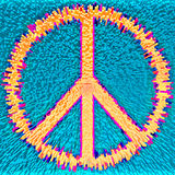 Peace 1. Peace symbol made from thousands of rectangular modules Stock Photo