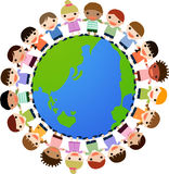 Peace. Illustration of group of children Royalty Free Stock Photography