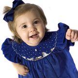 Peace. Baby girl in a nativity dress Stock Images