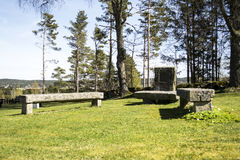 At peace. A peaceful grave at Troemborg church in ostfold, Norway Royalty Free Stock Photos