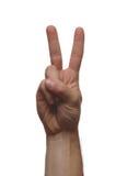 Peace. Hand Royalty Free Stock Photos