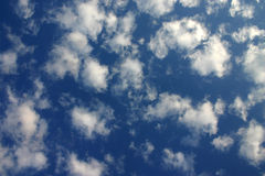 Peace. Clouds on a deep blue sky royalty free stock photography