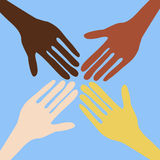 Peace. Hands of people of different nations Royalty Free Stock Images