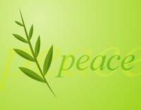 Peace. Olive leaf illustration on green background Vector Illustration