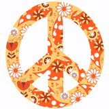 Peace abstract vector simbol hippy background. For design stock illustration