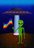 Peace Alien Stock Photo