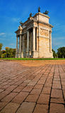 Peace Arch or Gate Sempione - a monument in Milan Royalty Free Stock Photography