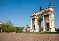 Peace Arch, Milan, Italy Royalty Free Stock Images