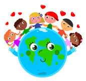 Peace around the world. Royalty Free Stock Image