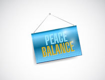 Peace balance sign illustration design Stock Image