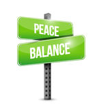 Peace balance street sign illustration Stock Photography